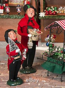 Byers Choice Father & Son Selling Christmas Ornaments Free Shipping