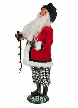 Byers Choice Jingle Bell Santa & Small Tree With Toys Free Shipping