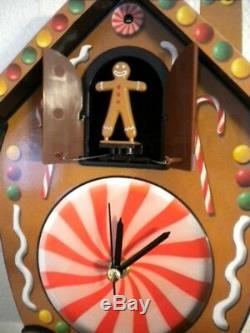 CHRISTMAS GINGERBREAD HOUSE MUSICAL CUCKOO CLOCK WALL or MANTEL