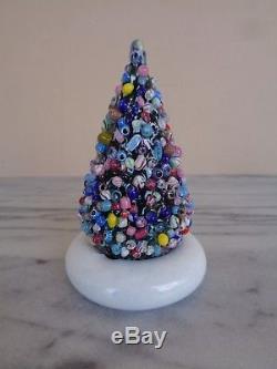 Cape Cod Glass Works Millefiori Latticino Christmas Tree Figurine / Paperweight