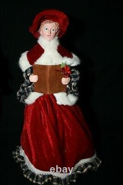 Carolers Statue Raz Imports Christmas Carolers Set/4 New Large Black Red