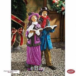 Christmas Eve with Victorian Holiday Carolers 25 Garden Statue