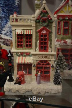 Christmas Houses and Store set of 3 in trm 3601643 RAZ Christmas NEW