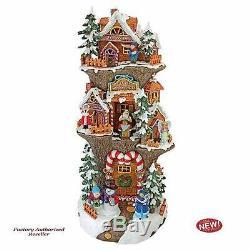 Christmas Santa's Workshop at the North Pole 20 Illuminated 360-degree Statue