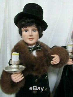 Christmas Victorian Couple Figurine Set by Traditions 26 Animated Lights Motion