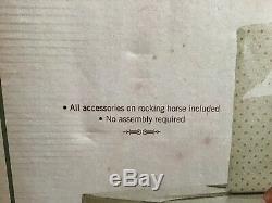 Costco Large Christmas Rocking Horse withSanta & Gifts NIB! (#IB-L)