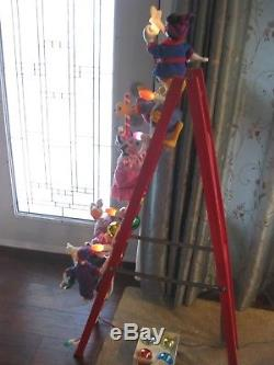 DISNEY 54 Mr Christmas Animated Mickeys Tree Trimmers 6 CHARACTERS SEE VIDEO