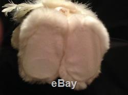 Dan Dee Musical Animated Singing Christmas Angel Bear Figure White Feathers RARE