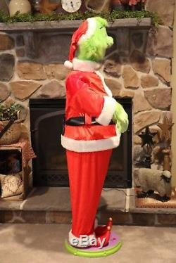 Dancing Singing Animated Christmas GRINCH Life-size 5' Tall with Mic Tested WORKS