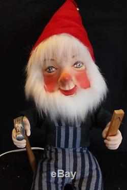 David Hamberger Telco motionette Peppermint Gnome Toy Maker Elf Animated Display