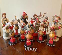 Denise CALLA House of Hatten 12 Days of CHRISTMAS Full Set Large Mantle Sz RARE