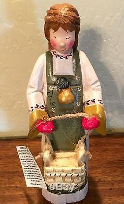 Denise Calla LARGE Maid A Milking Figure withTags House of Hatten HOH Christmas