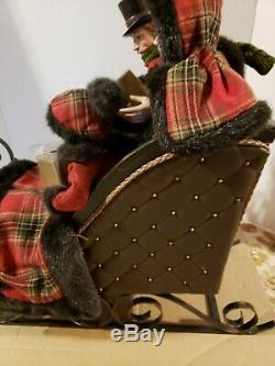 Dickens Carolers in Chocolate Sleigh by Valerie H210043 RTL $199