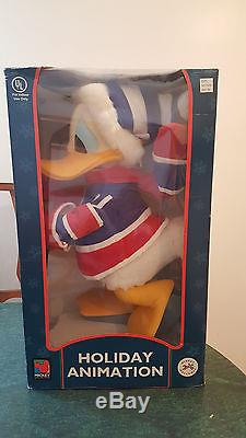 Disney Animated Christmas Holiday Donald Duck Motionette Brand New