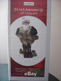 Disney Animated Christmas Holiday Elf Motionette Brand New