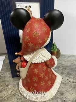 Disney Showcase Couture de Force Big Fig Santa Mickey Mouse NIB 15 Door Greeter