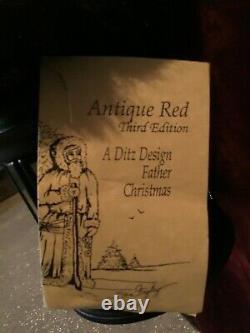 Ditz Design Father Christmas Hen House Antique Red Santa 5 ft. 2003 338/750