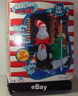 Dr. Seuss The Cat in the Hat Air blown Inflatable. Gemmy 2003 8 feet tall used