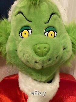 EUC Rare LIFE SIZE 5 FOOT Gemmy GRINCH Animated CHRISTMAS HOLIDAY