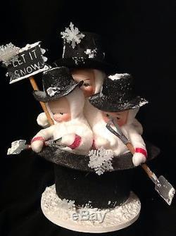 Elaine Roesle Rub a Dub 3 Snowmen. Snow Children St Nicholas Collection #3023