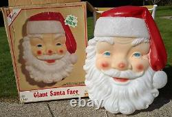 Empire Blow Mold Giant Santa Face Christmas Outdoor With Box 36 Vintage & Big