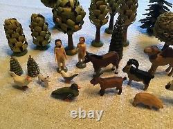 Erzgebirge Christian Werner/Seiffen Adam&Eve in Garden of Eden 32 pieces
