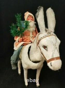 Exceptional Vintage 1900's Santa on Nodder Donkey in Excellent Condition 16