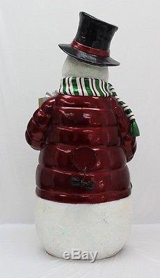Fiberoptic Lights Large Snowman