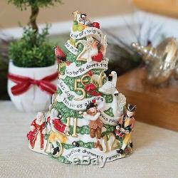 Fitz and Floyd 12 Days of Christmas Musical Figurine. New in Box