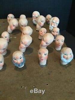 Four Sisters Hanna Mendus Simpich Christmas Carolers Display Head Lot Original