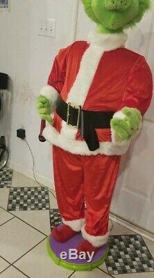 GEMMY GRINCH RARE LIFE SIZE 5 FOOT EUC Animated CHRISTMAS HOLIDAY GRRREAT