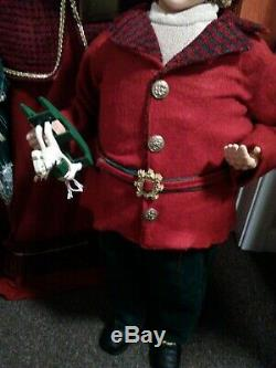 GIANT Deluxe Victorian Christmas Caroler 40 TALL! PLEASE READ DISCRIPTION
