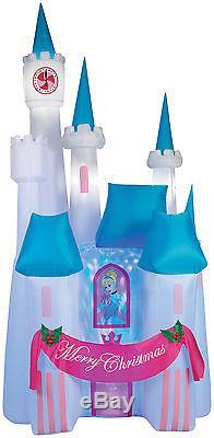 Gemmy Airblown Inflatable Cinderella Disney Christmas Princess Castle Yard Decor