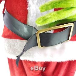 Gemmy Animated 5FT Grinch Stole Christmas Sings Dances See Video