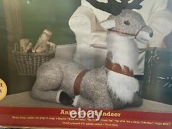 Gemmy Animated Talking singing Christmas Reindeer 4.5 feet life size santa deer
