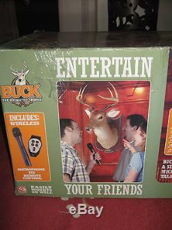 Gemmy Buck Talking Singing Animated Deer Brand New