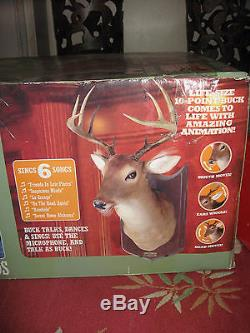 Gemmy Buck Talking Singing Animated Deer Brand New