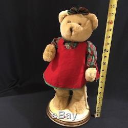 Gemmy Christmas Hip Swinging Singing Dancing Female Girl Teddy Bear Broken Hip