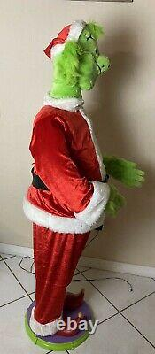 Gemmy Life Size 5' Tall Animated Singing Dancing Grinch Microphone Cord