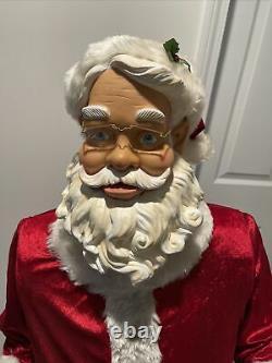 Gemmy Life Size Santa 5 Foot Animated Singing and Dancing Santa Claus Christmas