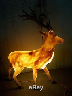 General Foam Plastics Christmas Large Reindeer Blow Mold Yard Decor