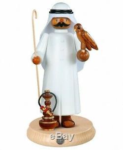 German incense smoker Arab with falcon and shisha, height 27 cm /. MU 16800 NEW
