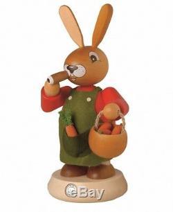 German incense smoker Easter bunny, height 19 cm / 7 inch, origin. MU 42424 NEW