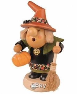 German incense smoker Muellerchen Halloween witch with pumpkin, h. MU 16447 NEW