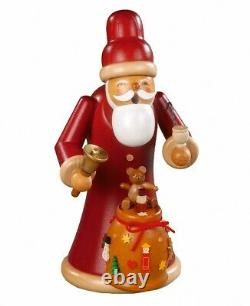 German incense smoker Santa Claus giving out X-mas, height 22 cm. MU 16788 NEW