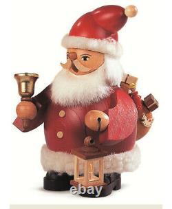 German incense smoker Santa Claus, height 14 cm / 6 inch, origina. MU 16032 NEW