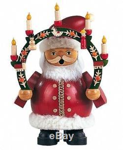 German incense smoker Santa Claus under candlearch, height 16 cm. MU 16031 NEW