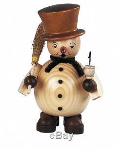 German incense smoker Snowman, height 14 cm / 6 inch, original Er. MU 16028 NEW