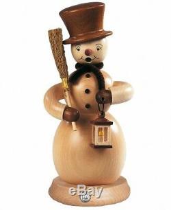 German incense smoker Snowman, height 23 cm / 9 inch, original Er. MU 16282 NEW