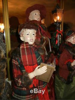 Giant 35 In. 4 Piece Deluxe Caroler Set Musical / Lighted Lantern Christmas Rare
